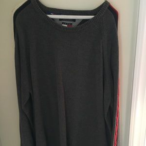Men's Tommy Hilfiger gray sweater / striped XXL